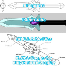 Load image into Gallery viewer, Voltron Inspired Prop Keith Galra Dagger for Cosplay - STL Files for 3D Printing
