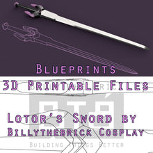 Load image into Gallery viewer, Voltron Inspired Prop Lotor Sword for Cosplay - STL Files for 3D Printing