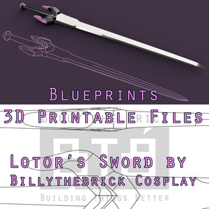 Voltron Inspired Prop Lotor Sword for Cosplay - STL Files for 3D Printing