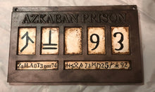 Load image into Gallery viewer, Azkaban Prison Sign - Sirius Black/Bellatrix Lestrange