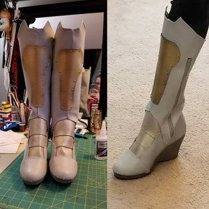 Valkyrie Inspired Knee & Boot Armor Template