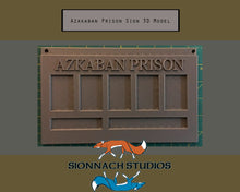 Load image into Gallery viewer, Azkaban Prison Sign - Bellatrix Lestrange - STL File for 3D Printing