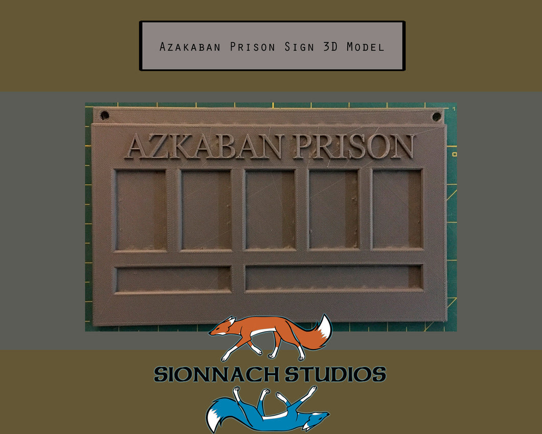 Azkaban Prison Sign - Bellatrix Lestrange - STL File for 3D Printing