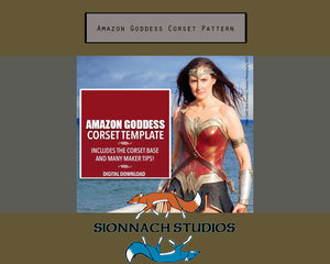 Amazon Goddess Corset  Template Digital Download