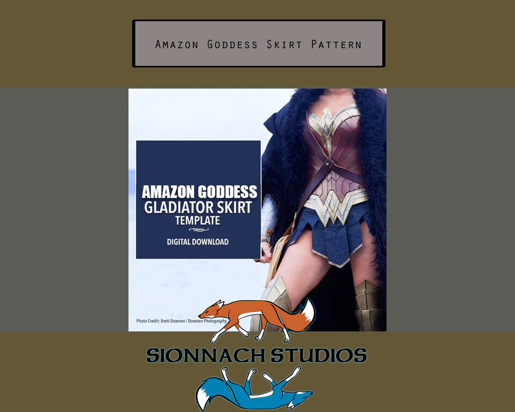 Amazon Goddess Gladiator Skirt Pattern Digital Download