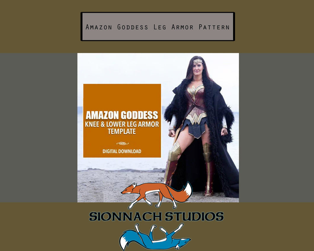 Amazon Goddess Knee, Lower Leg and Shoe Armor Template - Digital Download