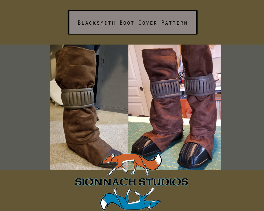 Blacksmith Boot Cover, Gaiter, Spats Pattern inspired by The Armorer (from The Mandalorian)