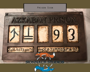 Azkaban Prison Sign - Sirius Black/Bellatrix Lestrange