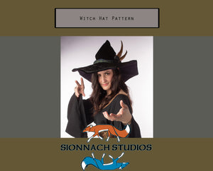 Witch Hat Template - Digital Download