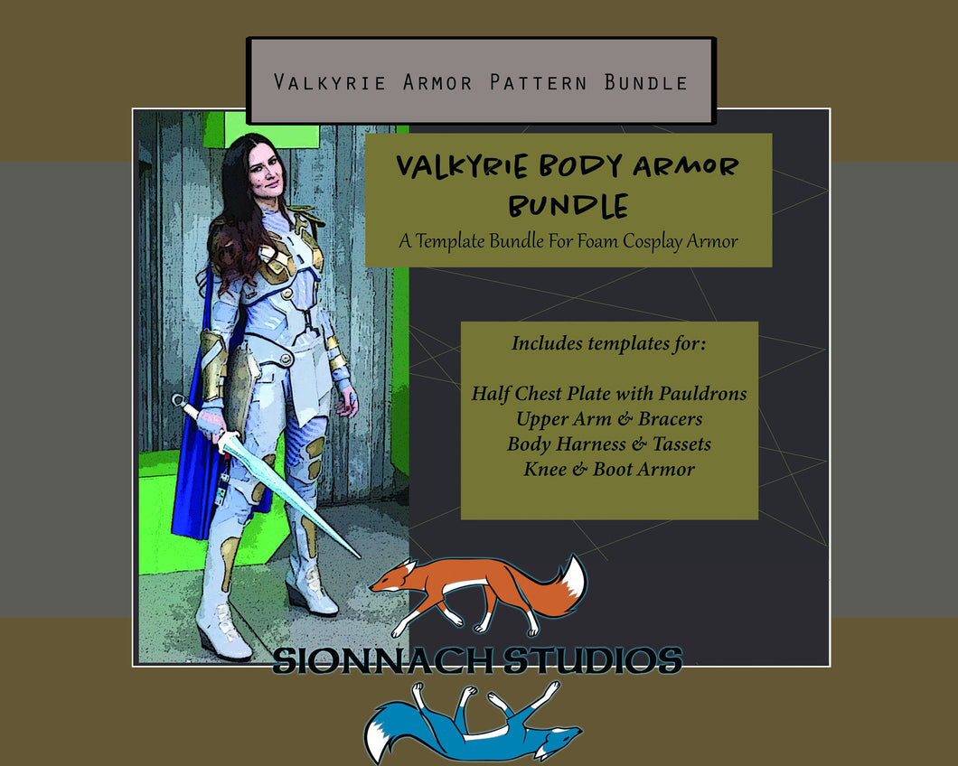 Valkyrie Inspired Body Armor Template Bundle
