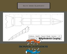 Load image into Gallery viewer, Voltron Prop Keith Sword and Bayard for Cosplay - Blueprints