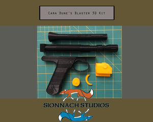 Cara Dune Star Wars The Mandalorian Inspired -  Blaster - 3D Printed Kit