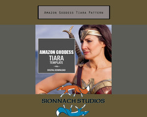 Amazon Goddess Tiara Template  Digital Download