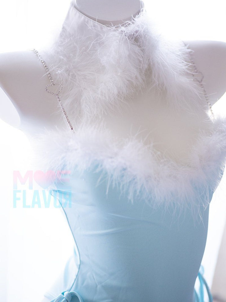 Winter Bunny Heart Rhinestone Bodysuit MF02020