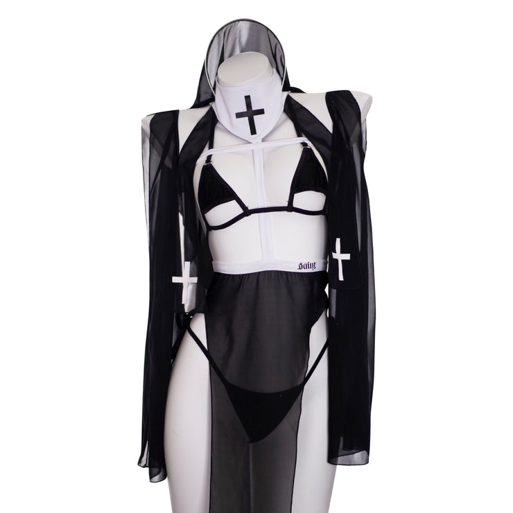 Saint/Sinner Sheer Nun Set MF00003