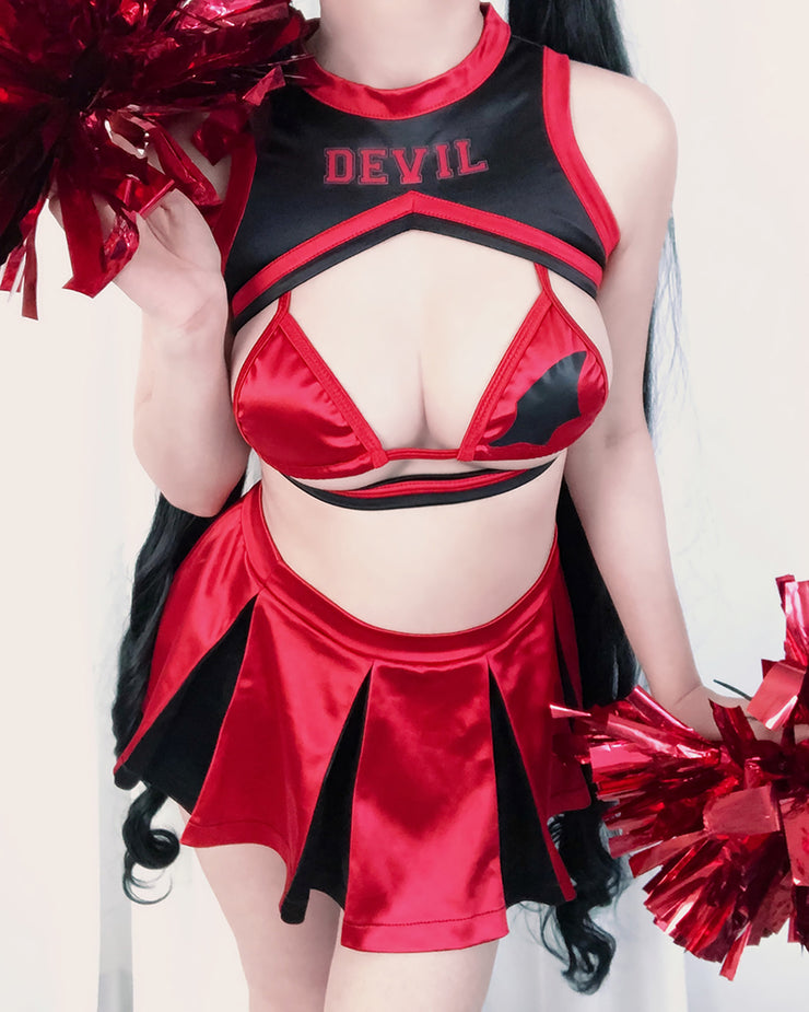Devil 666 Cheerleader Swimsuit Uniform MF00666