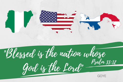 """Blessed is the Nation"" Print USA - Nigeria - Panama"