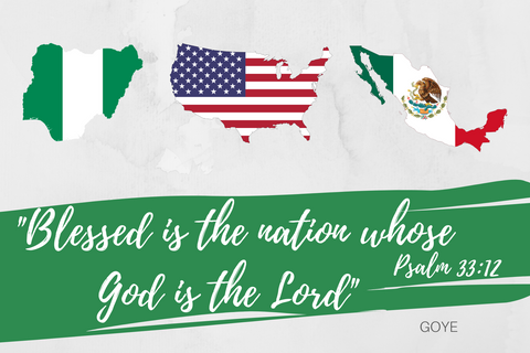 """Blessed is the Nation"" Print USA - Nigeria - Mexico"