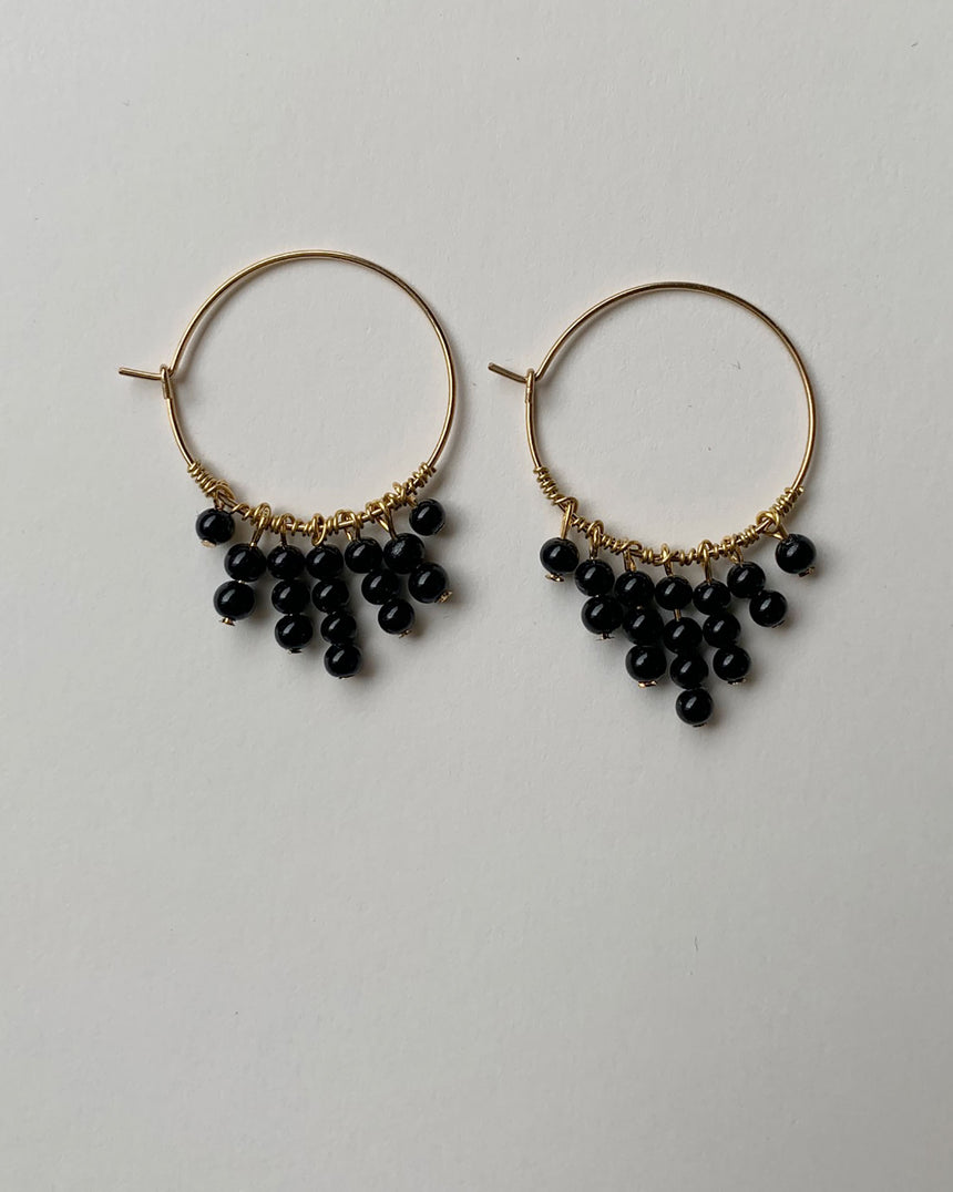 boucles d'oreilles november 3 black