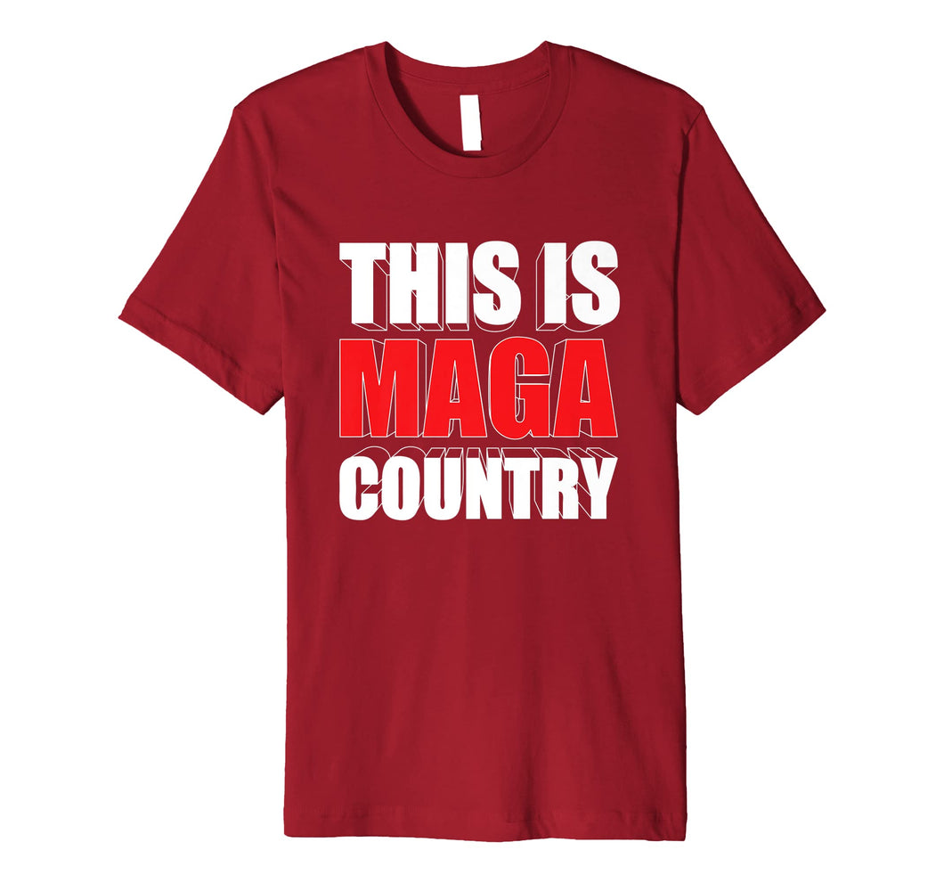 Funny shirts V-neck Tank top Hoodie sweatshirt usa uk au ca gifts for This is Maga Country Trump Fake News Hoax Red Pill 2020 Race Premium T-Shirt 1333071