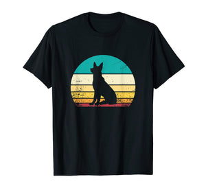 Funny shirts V-neck Tank top Hoodie sweatshirt usa uk au ca gifts for German Shepherd Tee Shirts for Men Vintage Retro Sunset Gift 2599673