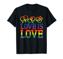 Load image into Gallery viewer, Funny shirts V-neck Tank top Hoodie sweatshirt usa uk au ca gifts for Love Is Love Rainbow t-shirt - Gay Lesbian Pride Shirts 1538657