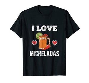 Funny shirts V-neck Tank top Hoodie sweatshirt usa uk au ca gifts for Cinco De Mayo Shirts I Love Micheladas Tees Beer Chili Heart 2120850