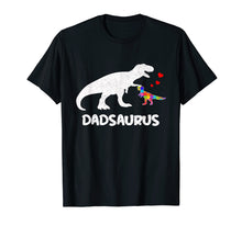 Load image into Gallery viewer, Funny shirts V-neck Tank top Hoodie sweatshirt usa uk au ca gifts for Dinosaur Dad Saurus Dadsaurus Autism Awareness Shirts Gift 1117456
