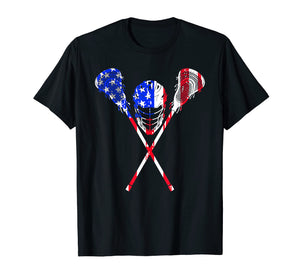 Funny shirts V-neck Tank top Hoodie sweatshirt usa uk au ca gifts for Lacrosse American Flag Gift T Shirt Lax Player Sticks Design 1270281