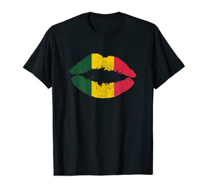Funny shirts V-neck Tank top Hoodie sweatshirt usa uk au ca gifts for Womens Reggae T-Shirt Kissing Lips Rastafari Rasta Music Shi 2385304