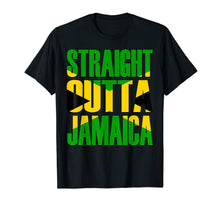 Load image into Gallery viewer, Funny shirts V-neck Tank top Hoodie sweatshirt usa uk au ca gifts for Straight Outta Jamaica Gift Flag Pride T-Shirt 1597565