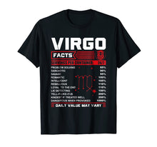 Load image into Gallery viewer, Funny shirts V-neck Tank top Hoodie sweatshirt usa uk au ca gifts for Birthday Gifts - Virgo Facts T-Shirt 2386119
