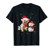Load image into Gallery viewer, Funny shirts V-neck Tank top Hoodie sweatshirt usa uk au ca gifts for Yorkie Snowman Funny Cute Dog Mom Dad Christmas Gift T-Shirt 983113
