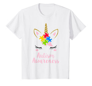 Funny shirts V-neck Tank top Hoodie sweatshirt usa uk au ca gifts for Kids Autism Awareness Shirt Unicorn Autism Puzzle Piece T-shirt 2280702