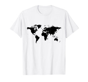 Funny shirts V-neck Tank top Hoodie sweatshirt usa uk au ca gifts for World Map t-shirt Black Silhouette Countries Continents 1204151
