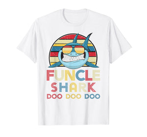 Funny shirts V-neck Tank top Hoodie sweatshirt usa uk au ca gifts for Mens Retro Vintage Funcle Sharks Tshirt gift for Father, Uncle 1108814