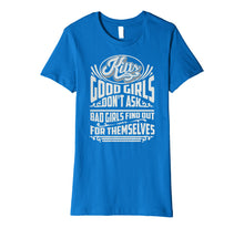 Load image into Gallery viewer, Funny shirts V-neck Tank top Hoodie sweatshirt usa uk au ca gifts for Cool Kilts Good Girls Don't Ask Bad Girls Find Out Tee Gift 1043003