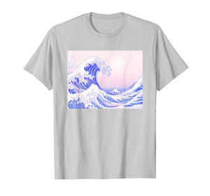Funny shirts V-neck Tank top Hoodie sweatshirt usa uk au ca gifts for Pastel Aesthetic Japanese Great Wave Soft Grunge Pink T-Shirt 1556864