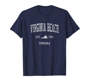 Funny shirts V-neck Tank top Hoodie sweatshirt usa uk au ca gifts for Virginia Beach VA T-Shirt Vintage Sports Design Tee 1406704