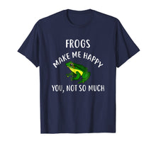 Load image into Gallery viewer, Funny shirts V-neck Tank top Hoodie sweatshirt usa uk au ca gifts for FROGS Make Me Happy, You Not So Much T-Shirt FROG 1945836