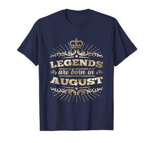 Funny shirts V-neck Tank top Hoodie sweatshirt usa uk au ca gifts for Legends are Born in August T-Shirt King Queen Crown 2647753