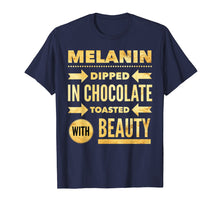 Load image into Gallery viewer, Funny shirts V-neck Tank top Hoodie sweatshirt usa uk au ca gifts for Oheneba: Melanin Dipped in Chocolate With Beauty T-Shirt 1139522