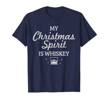 Load image into Gallery viewer, Whiskey Is My Christmas Spirit Funny Whisky Lover Gift T-Shirt-2159634