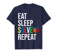 Load image into Gallery viewer, Eat Sleep Solve Repeat Rubik Cube T-shirt Humor Parody Funny T-Shirt-157870