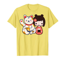 Load image into Gallery viewer, Funny shirts V-neck Tank top Hoodie sweatshirt usa uk au ca gifts for Maneki Neko Lucky Beckoning Cat with cute girl t-shirt 1047449