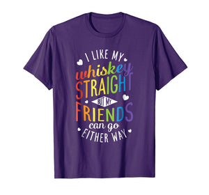 Funny shirts V-neck Tank top Hoodie sweatshirt usa uk au ca gifts for I Like My Whiskey Straight T shirt Lesbian Gay Pride LGBT 1230893