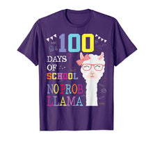 Load image into Gallery viewer, Funny shirts V-neck Tank top Hoodie sweatshirt usa uk au ca gifts for 100 Days of School Shirt No Probllama Llama 100th day tshirt 1594432