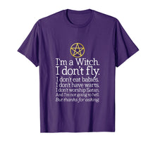 Load image into Gallery viewer, Funny shirts V-neck Tank top Hoodie sweatshirt usa uk au ca gifts for I'm A Witch I Don't Fly T-Shirt Wicca Wiccan Pagan Shirt 1962140