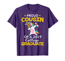 Load image into Gallery viewer, Funny shirts V-neck Tank top Hoodie sweatshirt usa uk au ca gifts for Proud Cousin Of A 2019 College Graduate Shirt Unicorn Dab 1190987