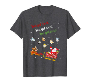 You get a Cat Cats For Everybody Christmas Cute Cat Lover T-Shirt-3208375